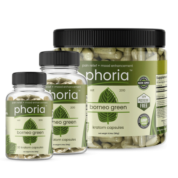 Phoria Borneo Green Vein Kratom Capsules