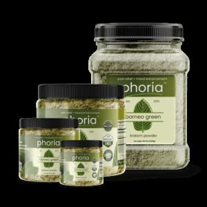 Phoria Borneo Green Vein Kratom Powder