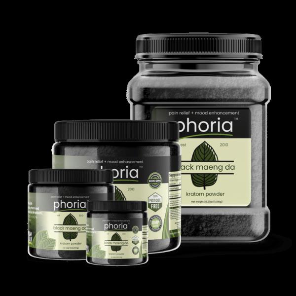 Phoria Black Maeng Da Kratom Powder