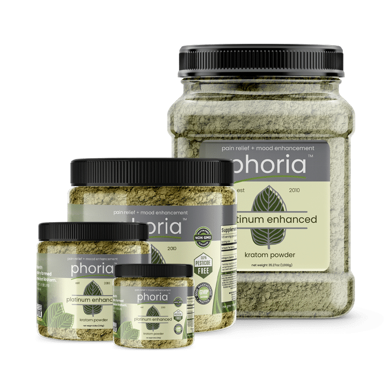 Phoria Enhanced Platinum Kratom Powder